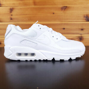 Details about Nike Air Max 90 Triple White Wolf Grey Running Men's Shoes 7 CN8490-100