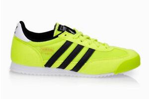 Details zu ADIDAS Dragon Kinder Schuhe Sneaker Freizeit-Turnschuhe  gelb/schwarz Gr.37 od.38