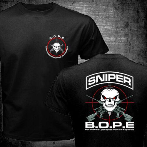 New BOPE Brazil Special Police Unit Tropa de Elite Forces PMERJ Delta T-shirt