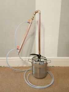 Pot Still Copper Distiller 9l Moonshine Spirits Alcohol Pressure Cooker 22mm Ebay