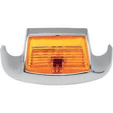 Cromado Guardabarros Delantero Luz con ámbar Lente Para Harley-Davidson Modelos enumerados