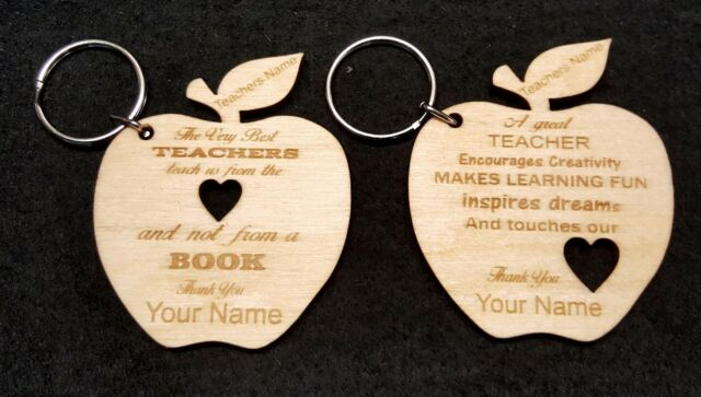 Teachers Apple Keyring. Something for your child to give to their Teacher