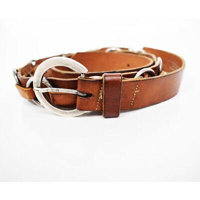 MaxMara Weekend Womens Leather Belt Brown Size Large