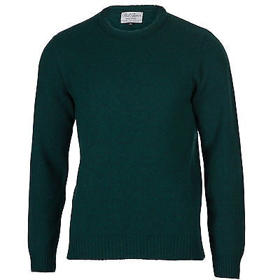 Archer - 100% Pure Lambswool -  Mens Amazon Green Jumper Sweater