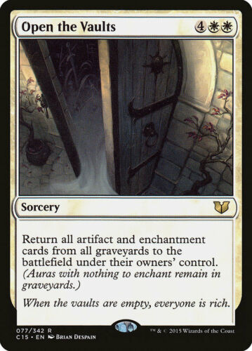 Moderate Play MTG X1: Open the Vaults FREE US SHIPPING! R Commander 2015