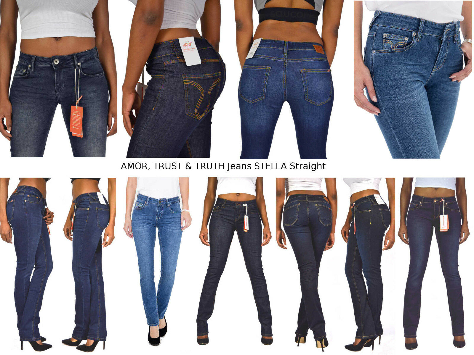 ATT Amor Trust & Truth Jeans STELLA Straight 11051 Wonderstretch Regular Waist