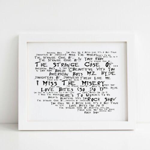 Framed Original Art Album Lyrics Print The Strange Case Of Halestorm Poster
