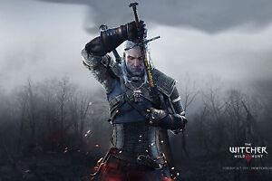 Poster A3 The Witcher 3 Wild Hunt Geralt De Rivia Videojuego Videogame Cartel 12