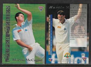 MARTIN-MCCAGUE-England-1994-FUTERA-ASHES-SUPER-SERIES-CRICKET-CARD-SS37