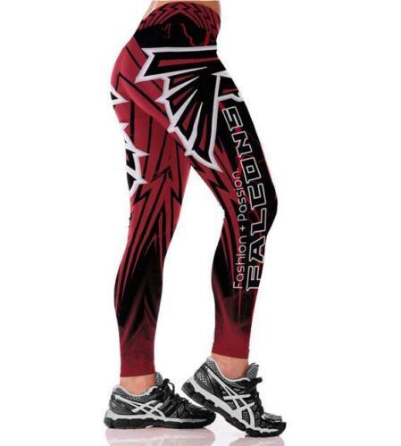 S-3XL Woman Legging Atlantis falcon printed legging high waist wide belt 272