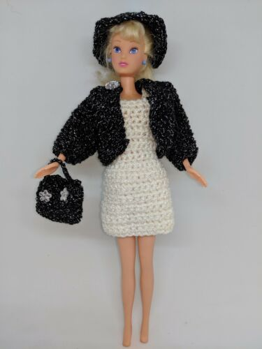 robe veste chapeau à la main Poupées Vêtements adapté pour poupée Barbie