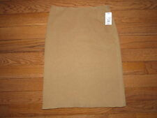 NEW Brooks Brothers Tan Camel Hair Wool Blend Pencil Skirt size 6 NWT