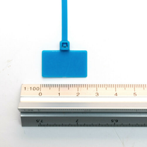 Sujetacables 165mm beschriftbar 100er con campo de etiqueta 16,5cm multicolor de colores