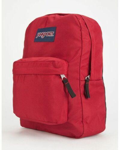 Wine Red Jansport Superbreak Mens /& Womens Backpacks Rucksack