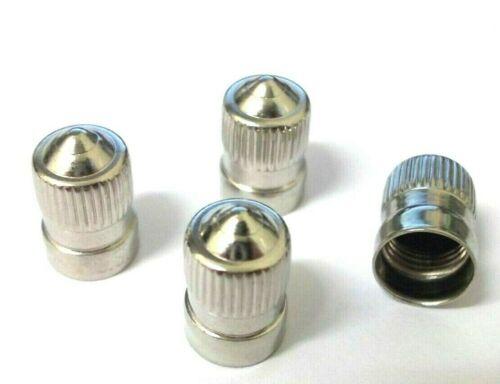 paquete De 4 Neumático Tapas De La Válvula Tapas Latón chapado de polvo * Calidad Superior! largo cúpula