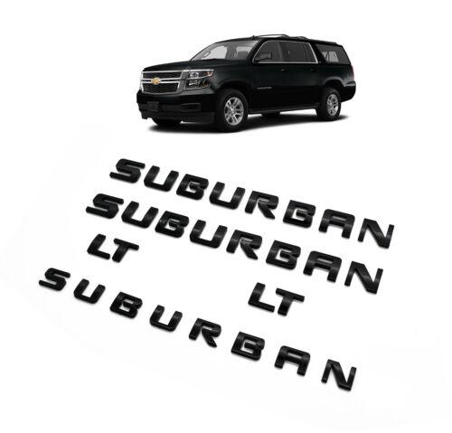 5x Black 2007-2019 SUBURBAN Nameplate Door Tailgate EMBLEMS  Glossy Black LTZ