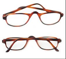 Half Eye Reading Glasses Real Glass Lens Reader Polished Tortoise Frame +1.25