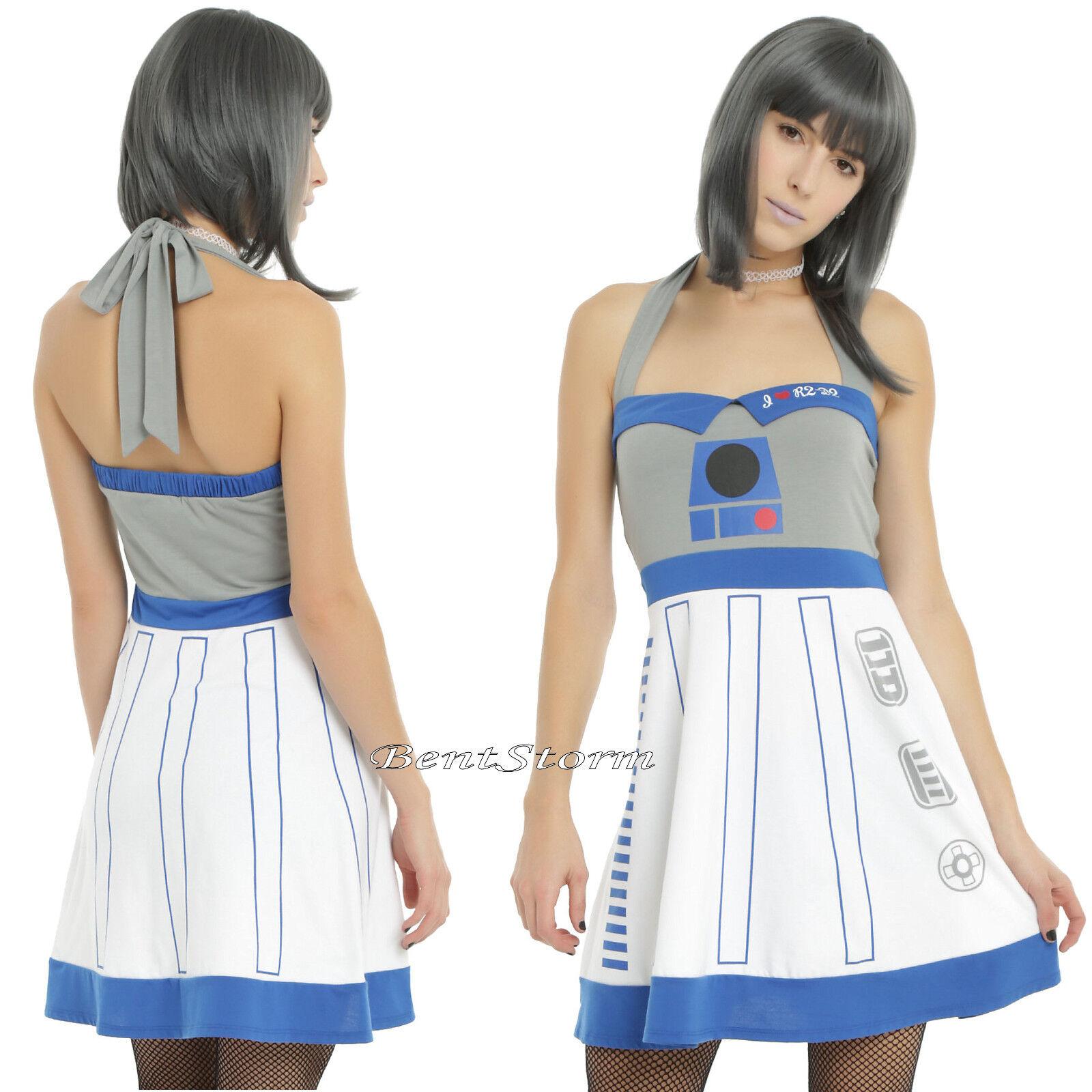 Star Wars Her Universe R2-D2 Robot Droid Adjustable Halter Strap Cosplay Dress