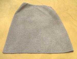 Fendi-Pencil-Skirt-Light-Grey-Textured-Wool-Blend-Knee-Length-sz-44-IT-10-US-GUC