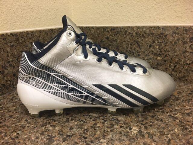 more photos fc655 89cad Adidas Adizero 5 Star 34 2.0 Football Cleats SilverNavy Sz 9