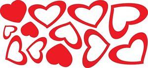 12-ADESIVI-STICKERS-CUORI-CUORICINI-HEART-LOVE-ADESIVO-CASCO-MOTO-AUTO-CAMERETTA