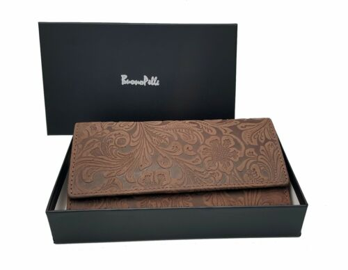 Donna Pochette Designer Portafoglio Di Pelle Vera Porta Carte Di Credito Borsa regalo in scatola
