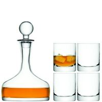 Lsa Bar Whisky Set - Decanter And 4 Tumblers