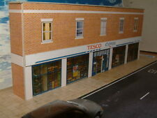 """Low Relief Super Market Shop,(Tesco) Self Assembly Card Kit """"00"""" Gauge Only here"""