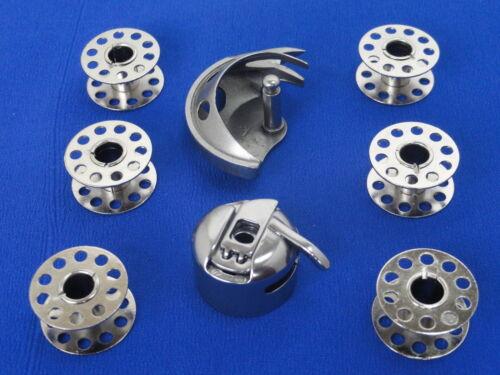 Caso de máquina de coser 6 Bobinas /& Shuttle funciona en E/&R Alfa