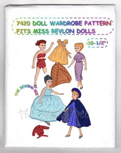 "7420 Doll Pattern Wardrobe Fits Miss Revlon /& other similar Dolls 10-1//2/"""