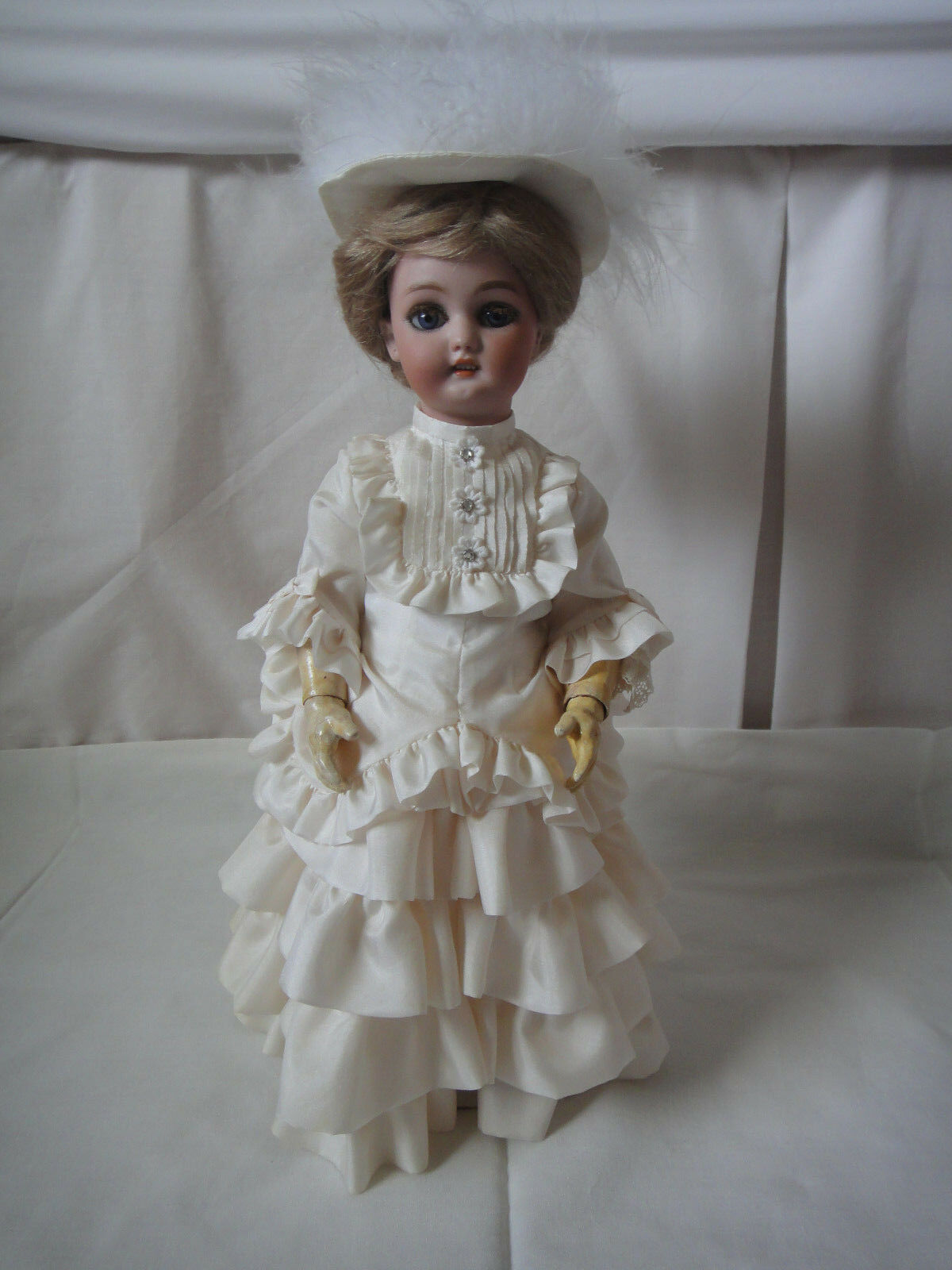 SIMON and HALBIG - WALKING DOLL 13 ½   Antique German Doll Circa - late 1890's.
