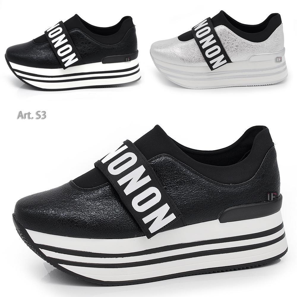 S3 shoes DA women STRAPPO GINNASTICA SNEAKERS ZEPPA PLATFORM