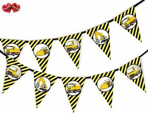 Construction-Plant-Vehicles-Machines-Bunting-Banner-15-flags-by-PARTY-DECOR