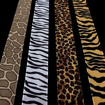 May Arts Animal Print Grossgrain Ribbon Satin 38mm