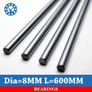 1 pc/lot Cnc Linear Shaft Chrome OD 8mm L 600mm WCS Round Steel Rod Bar Rails