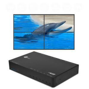 SIIG-HDMI-2-0-2x2-4-Display-Video-Wall-Controller-amp-Processor-Up-to-4K-60Hz