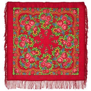 Chale-russe-a-motifs-traditionnels-100-laine-Matriochka