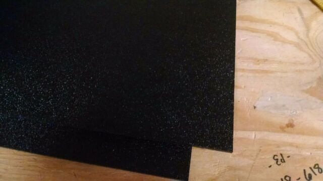 """ABS Black Plastic .125-1//8/"""" x 24/"""" x 48"""" Textured Vacuum Forming RC Body Hobby"""