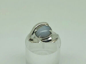 Ammonite-Ltd-Welsh-Vintage-1976-Sterling-Silver-Lace-Agate-Cocktail-Ring-O-1-2
