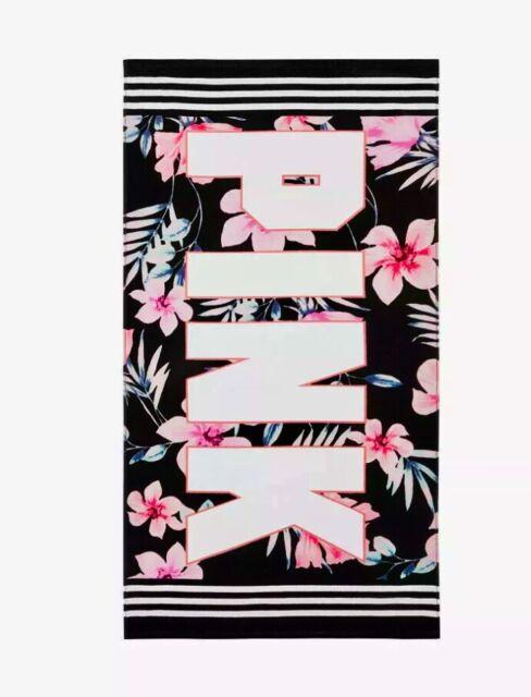"Victorias Secret 60/"" Round Beach Towel Blanket Tropical Multi Color Palm NIP"