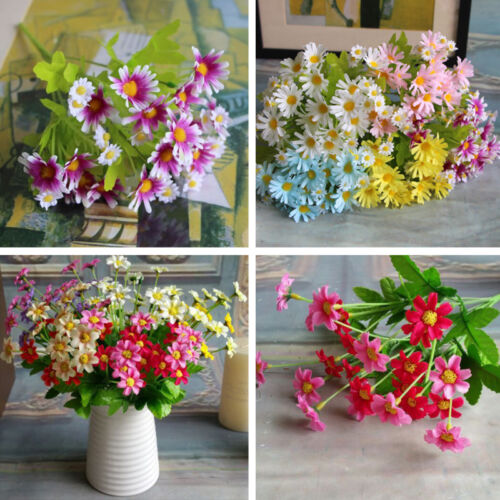 3pcs Bouquet Artificial Flowers Silk Fake Chamomile Daisy Home Decoration Craft