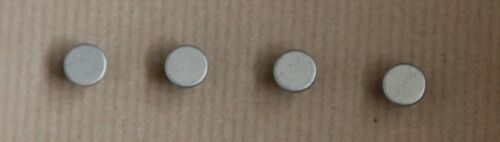 4xSmall MattChrome Knobs for tool box Brass with Screws Industrial Loft Vintage