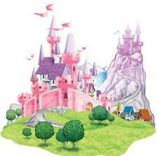 PRINCESS CASTLE scene setter HAPPY BIRTHDAY party wall decoration kit over 5'