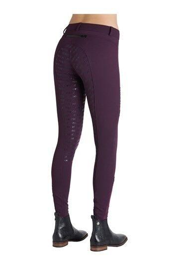 SALE Montar Ellen Yati Full Logo Grip Breeches - Plum UK8, UK10 & UK16