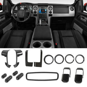 For Ford F150 09-14 Full set Interior Decoration Trim Kit Dashboard Accessories