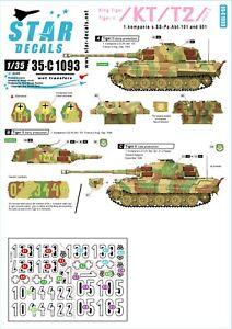 Star-Decals-1-35-Kompanie-s-SS-Pz-Abt-101-501-France-Belgium-King-Tiger-35c1093