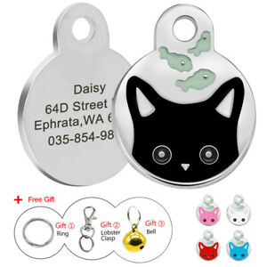 Personalized-Dog-Cat-Cute-Face-Tags-Disc-Pet-ID-Name-Collar-Tag-Engraved-Free