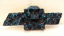Chevy S10/Blazer Custom Skull Emblem - Blue Kandy by Sloan Product