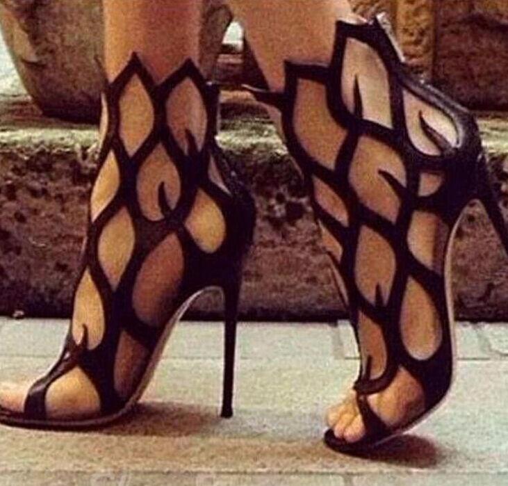 Gladiator Gladiator Gladiator Donna Open Toe Hollow Out Stilettos High Heels Heels High 9d8ce9