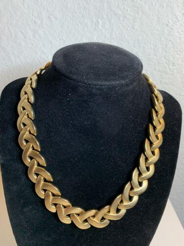 """Vintage F. O. Inc Gold Tone Link Necklace 16"""""""